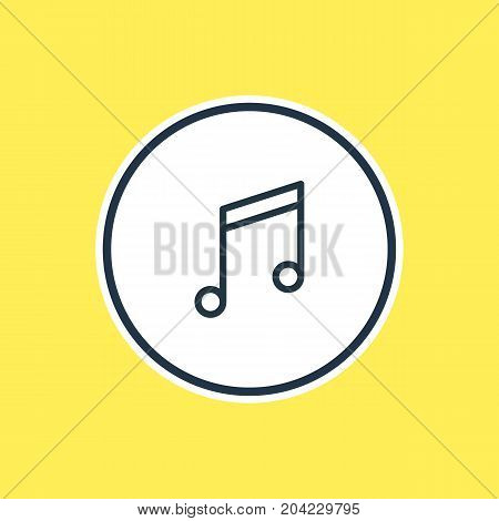 Beautiful Leisure Element Also Can Be Used As Quaver Element.  Vector Illustration Of Music Note Outline.