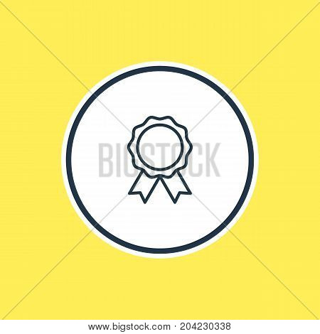 Beautiful Fitness Element Also Can Be Used As Award  Element.  Vector Illustration Of Reward Outline.