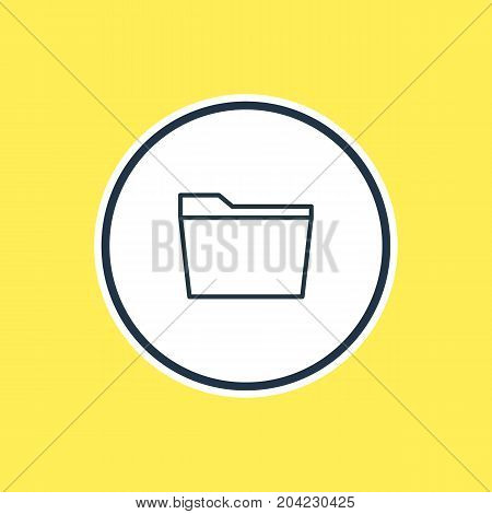 Beautiful Bureau Element Also Can Be Used As Template   Element.  Vector Illustration Of Folder Outline.