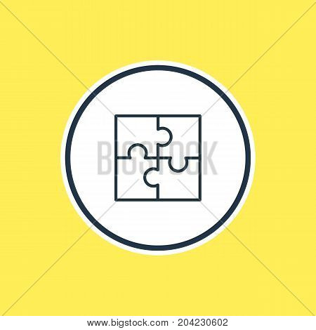Beautiful Trade Element Also Can Be Used As Riddle Element.  Vector Illustration Of Puzzle Outline.