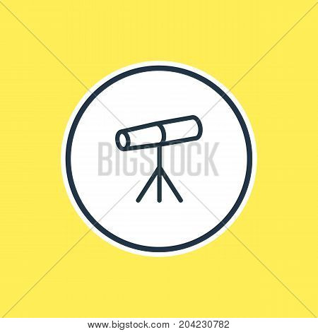Beautiful Galaxy Element Also Can Be Used As Zoom Glass Element.  Vector Illustration Of Telescope Outline.