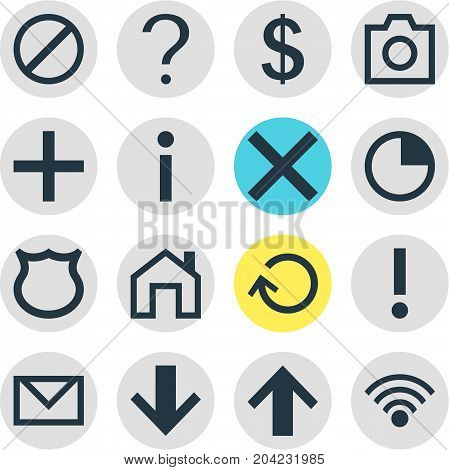Editable Pack Of Renovate, Top, Cordless Connection And Other Elements.  Vector Illustration Of 16 User Icons.