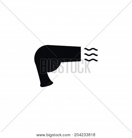 Drier Vector Element Can Be Used For Hot, Drier, Hairdryer Design Concept.  Isolated Appliance Icon.