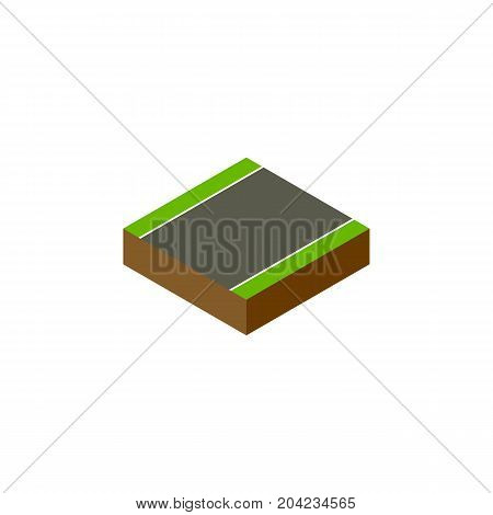 Unilateral Vector Element Can Be Used For Unilateral, Strip, Road Design Concept.  Isolated Without Strip Isometric.