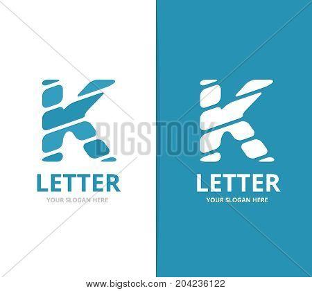 Unique vector letter K logo design template.