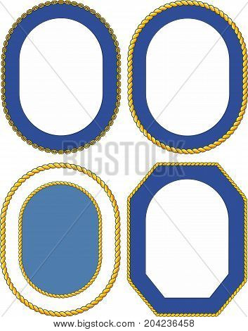 Set of ship templates for naval emblems or crests