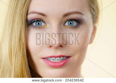 Woman Having Colorful Makeup