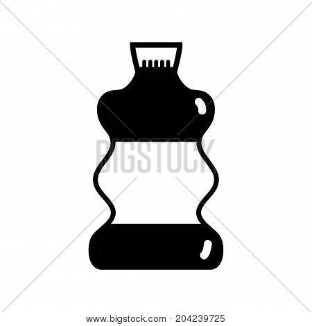 contour liquit bleach in bottle design to clean vector illustration