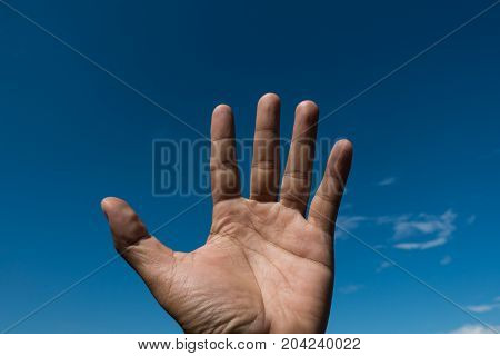 give me five into the blue sky
