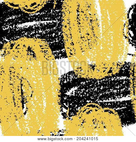 Abstract giant stroke seamless hand drawn pattern. Wax crayon drawn background. Modern grunge texture.