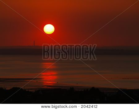 red sunset Whitstable (Landschaft)