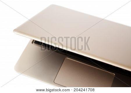 Computer Laptop, Minimalistic Style On White Background