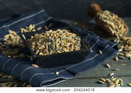 Dry Organic Tricolor Orzo Pasta