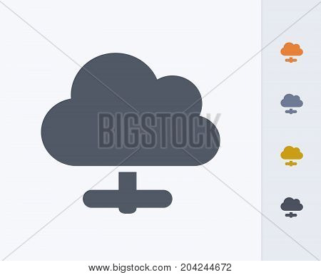 Online Cloud - Carbon Icons. A professional, pixel-perfect icon designed on a 32x32 pixel grid and redesigned on a 16x16 pixel grid for very small sizes.