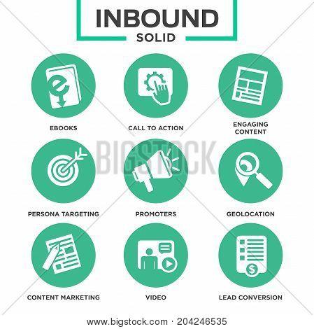 Inbound Marketing Vector Icon Set