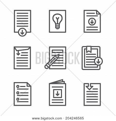 Whitepaper - Download Icon Button Set with pencils, etc