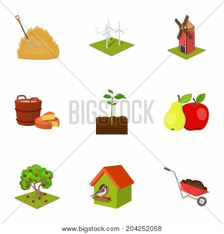 farm, ecology, vitaminsand other web icon in cartoon style.