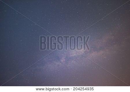 Majestic Night Sky With Galaxy