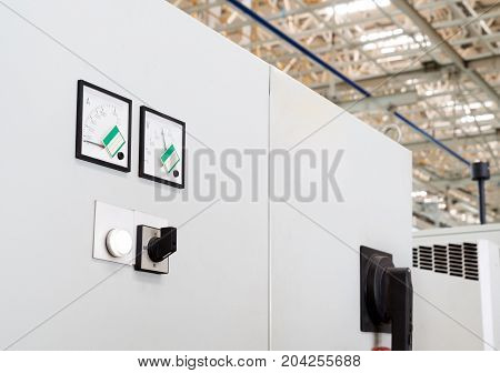 Large car production line control box close - up