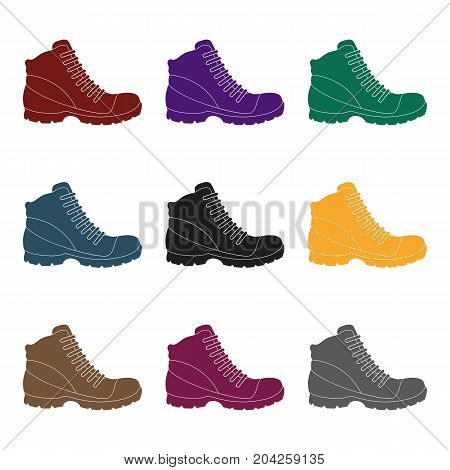 Grey men shoes oxfords. Casual shoes for autumn and spring .Different shoes single icon in black style vector symbol stock web illustration.