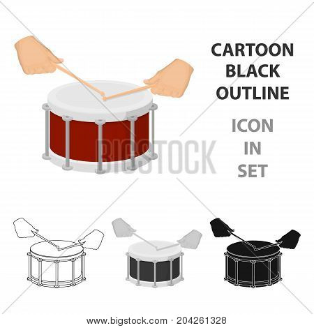 Drum, percussion musical instrument. Drum shot single icon in cartoon style vector symbol stock illustration .