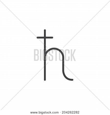 Saturn symbol line icon, outline vector sign, linear style pictogram isolated on white. Astrology symbol, logo illustration. Editable stroke.