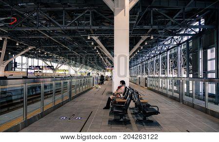 Shinkansen Station In Nagano, Japan