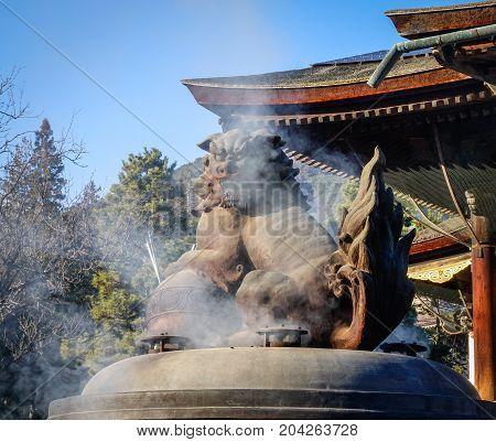 Lion Statue At Ancient Temple