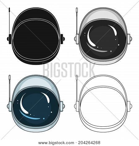 Protective helmet cosmonaut. Space technology single icon in cartoon style vector symbol stock illustration .