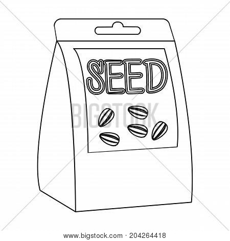 Seeds, single icon in outline style.Seeds, vector symbol stock illustration .