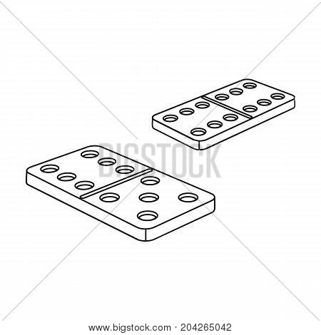 Game, single icon in outline style.Game, vector symbol stock illustration .