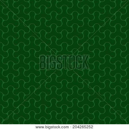 Seamless Web Geometric Pattern. Green Background Of Forms Of A Spinner. Frame Border Wallpaper. Elegant Repeating Vector Ornament