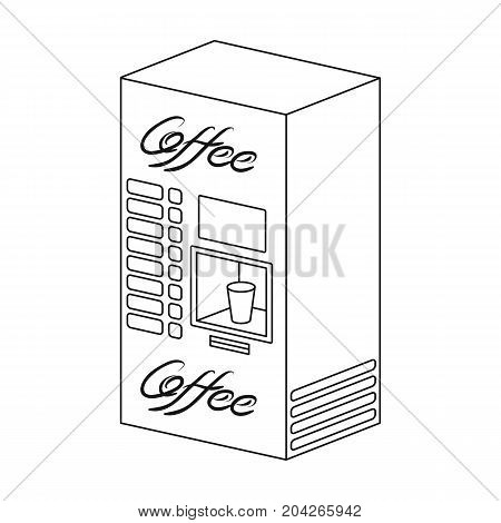 Terminal, preparation of various types of coffee. Terminals single icon in outline style isometric vector symbol stock illustration .