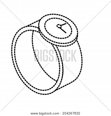 dotted shape technology smartwatch with digital connection service vector illustration