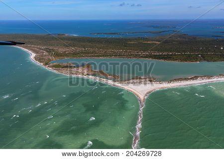 Aerial view of Anna Maria Island Florida. USA
