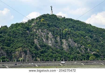 The Gellert hill at Budapest city Hungary