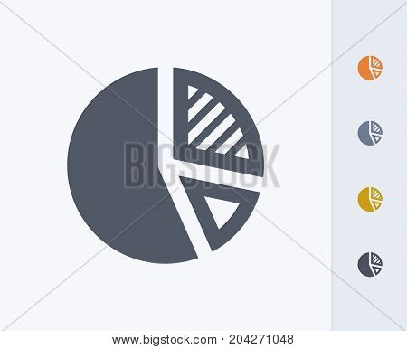 Pie Chart - Carbon Icons. A professional, pixel-perfect icon designed on a 32x32 pixel grid and redesigned on a 16x16 pixel grid for very small sizes