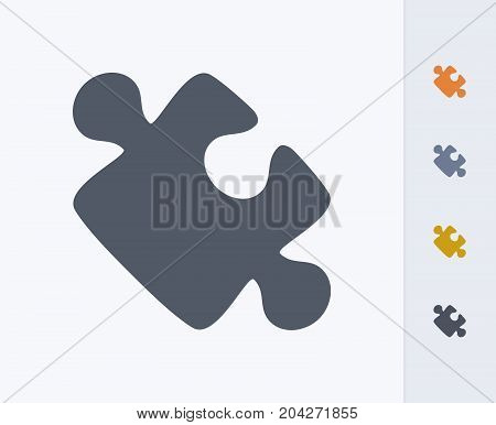 Puzzle Piece - Carbon Icons. A professional, pixel-perfect icon designed on a 32x32 pixel grid and redesigned on a 16x16 pixel grid for very small sizes
