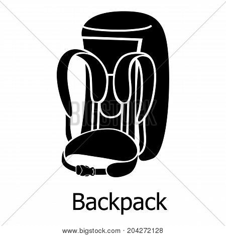 Backpack icon. Simple illustration of backpack vector icon for web