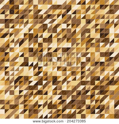 Pixelated gold color stripe pattern background stock vector