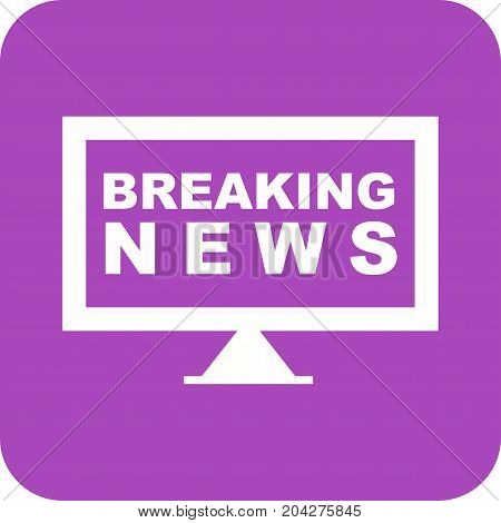 News, breaking, live icon vector image. Can also be used for news and media. Suitable for mobile apps, web apps and print media.