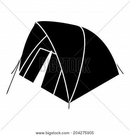Mountain tent icon. Simple illustration of mountain tent vector icon for web design isolated on white background