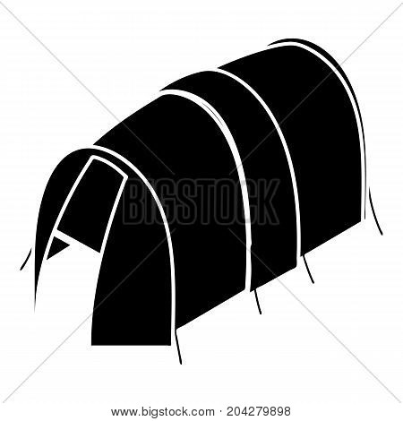 Long tent icon. Simple illustration of long tent vector icon for web design isolated on white background