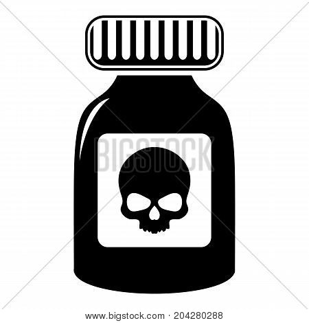 Deadly liquid icon . Simple illustration of deadly liquid vector icon for web design isolated on white background