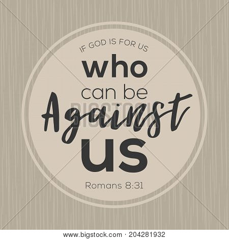 if god is for us who can be against us from bible, printable card from new testament