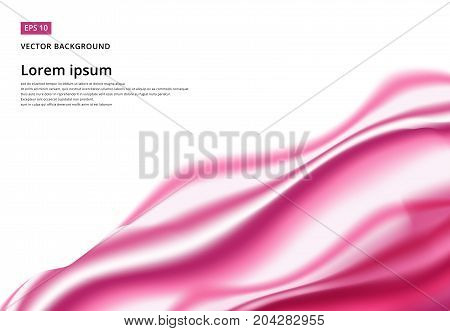 Abstract background Ligth pink curve and wave smooth with copy space Vector illustration
