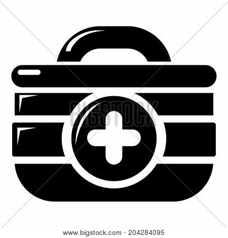 First aid kit icon . Simple illustration of first aid kit vector icon for web design isolated on white background