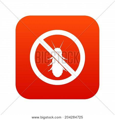 No termite sign icon digital red for any design isolated on white vector illustration
