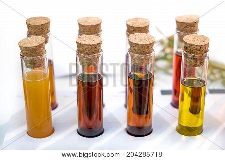oil specimen liquid test tube urine samples vials