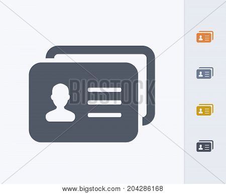 ID Card - Carbon Icons. A professional, pixel-perfect icon designed on a 32x32 pixel grid and redesigned on a 16x16 pixel grid for very small sizes